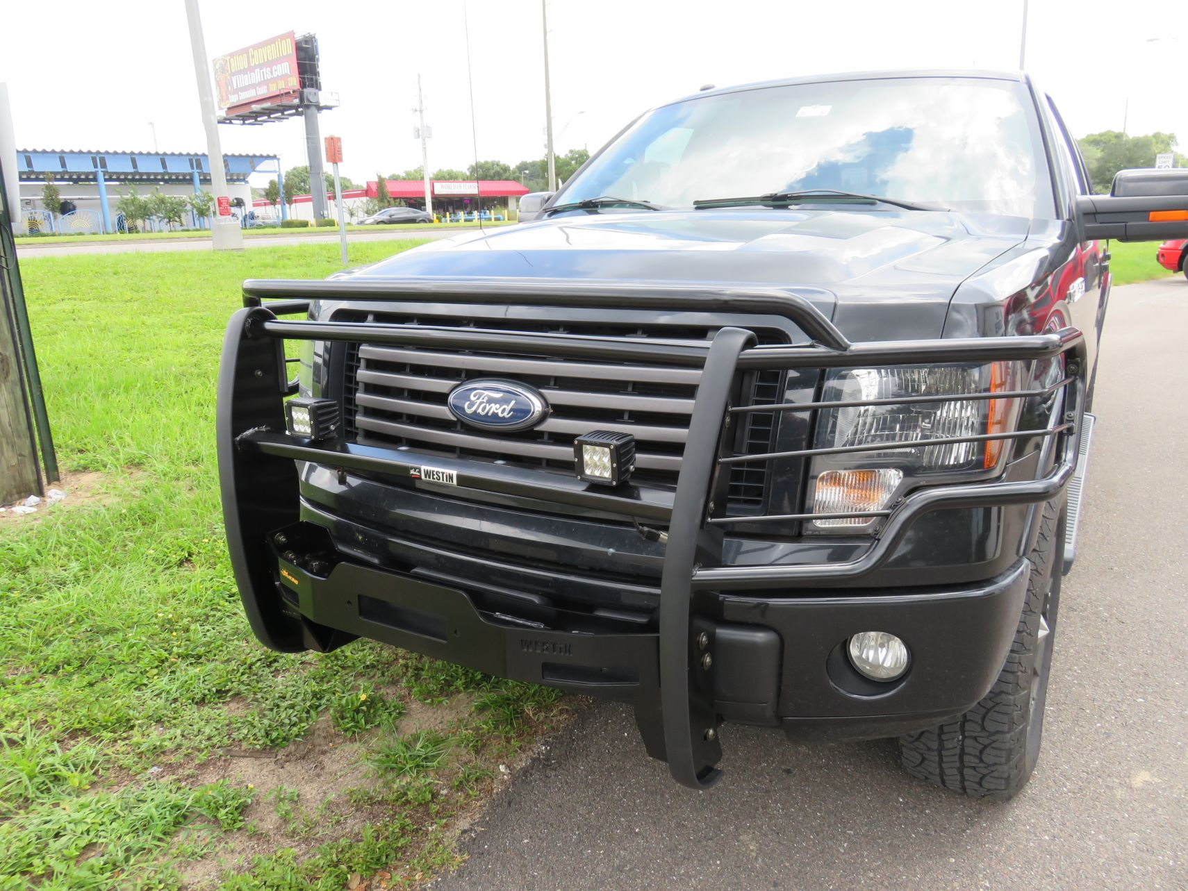 2014 black ford f150 westin grille guard TopperKING TopperKING
