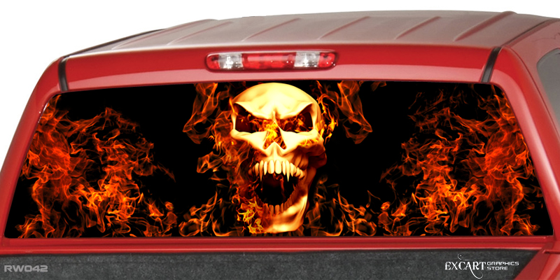 Skull Window Graphics