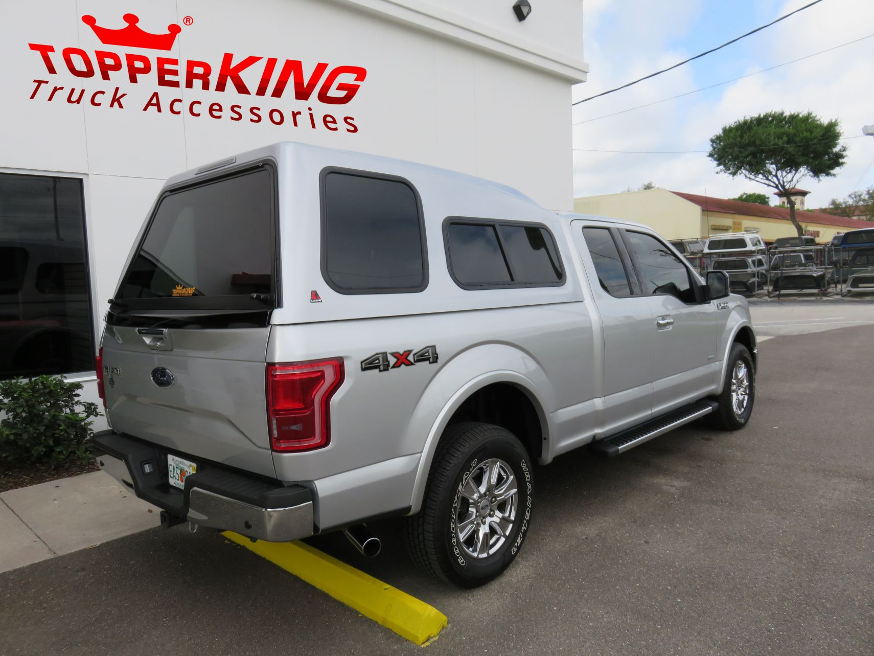 Ford F150 LEER 122 fiberglass topper and a custom hitch by TopperKING in  Brandon, FL ...