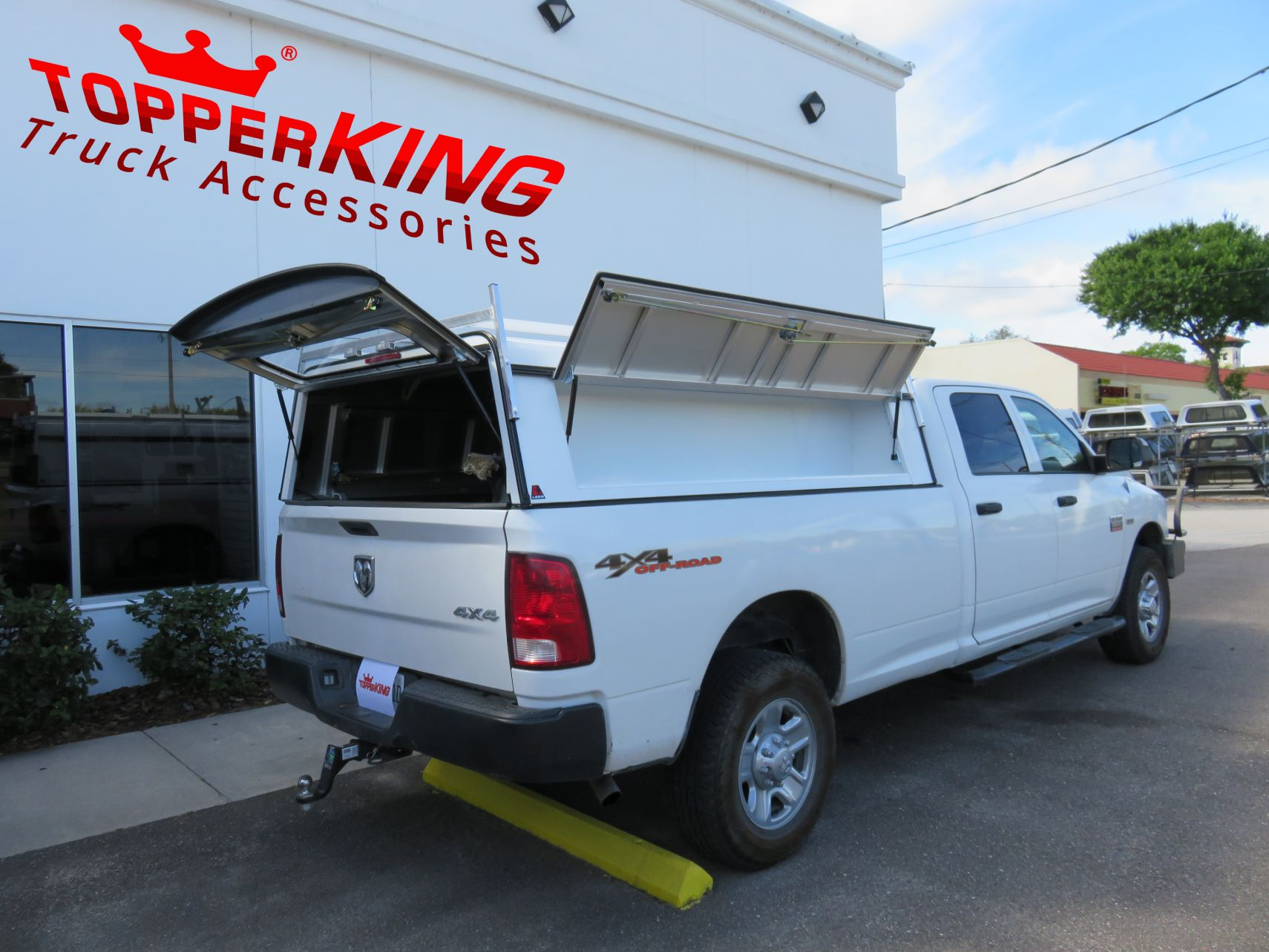 Dodge Ram Driven to Work Leer DCC mercial Topper TopperKING