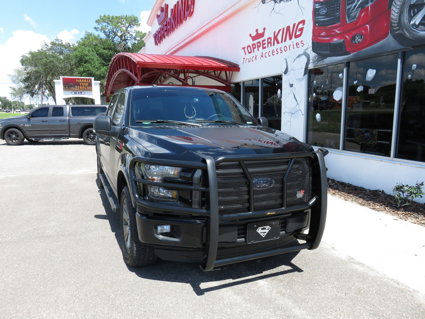 Blacked Out 2017 Ford F150 With Westin Hdx Grill Guard And Running Boards By Topperking In