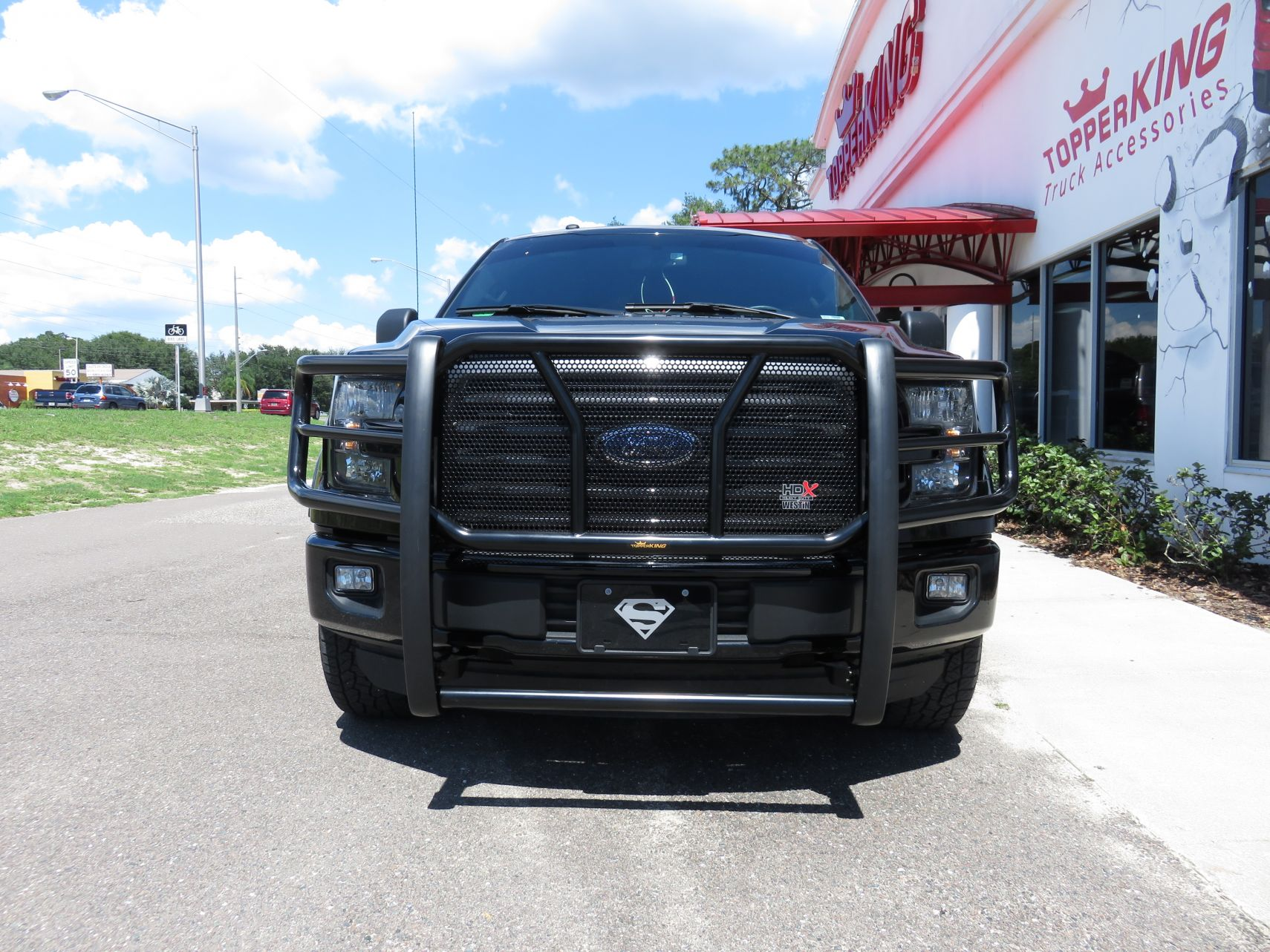 Blacked Out 2017 Ford F150 with Grille Guard - TopperKING ...