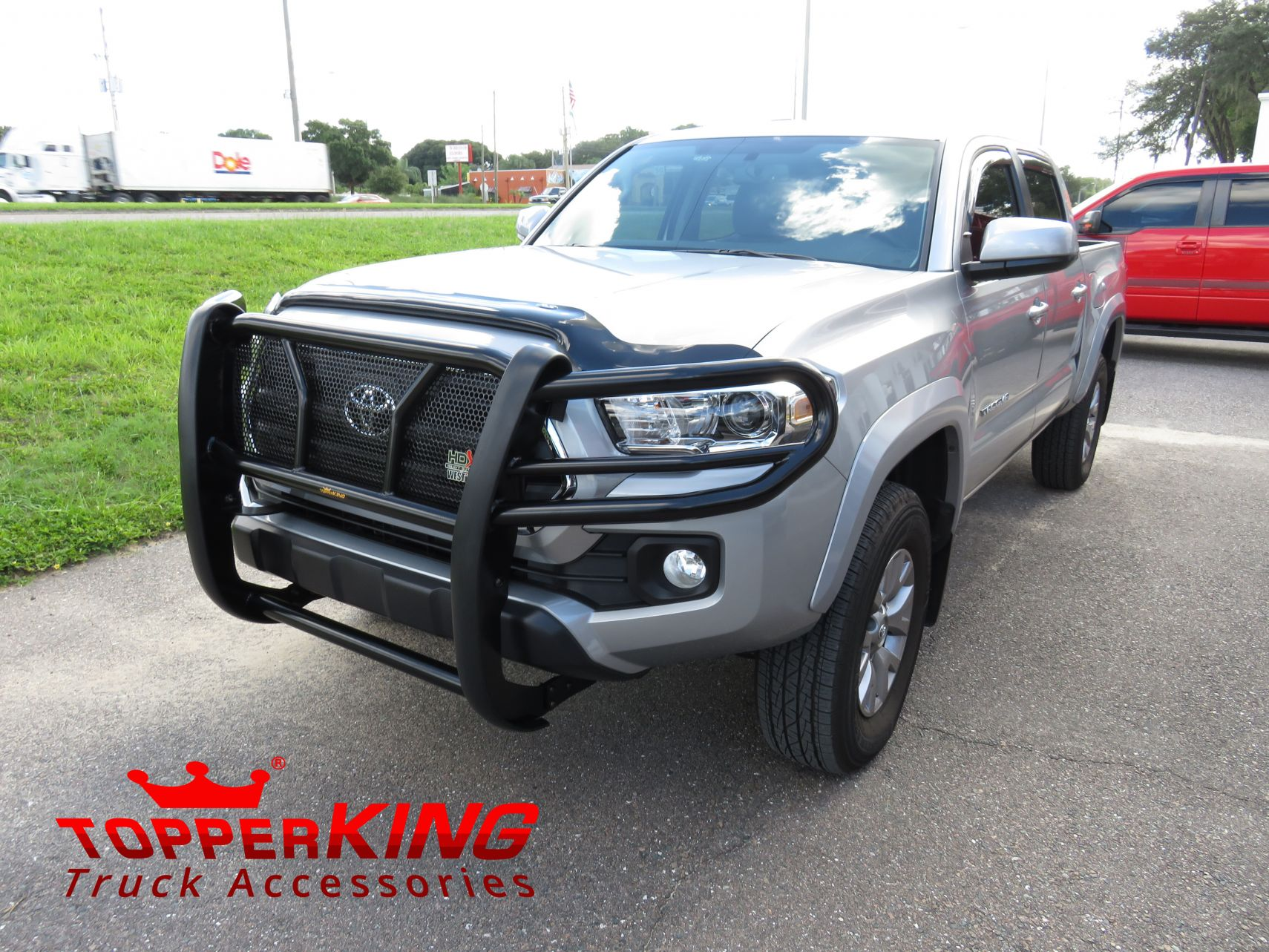tacoma guard toyota westin grille grill truck topperking accessories hitch silver guards front