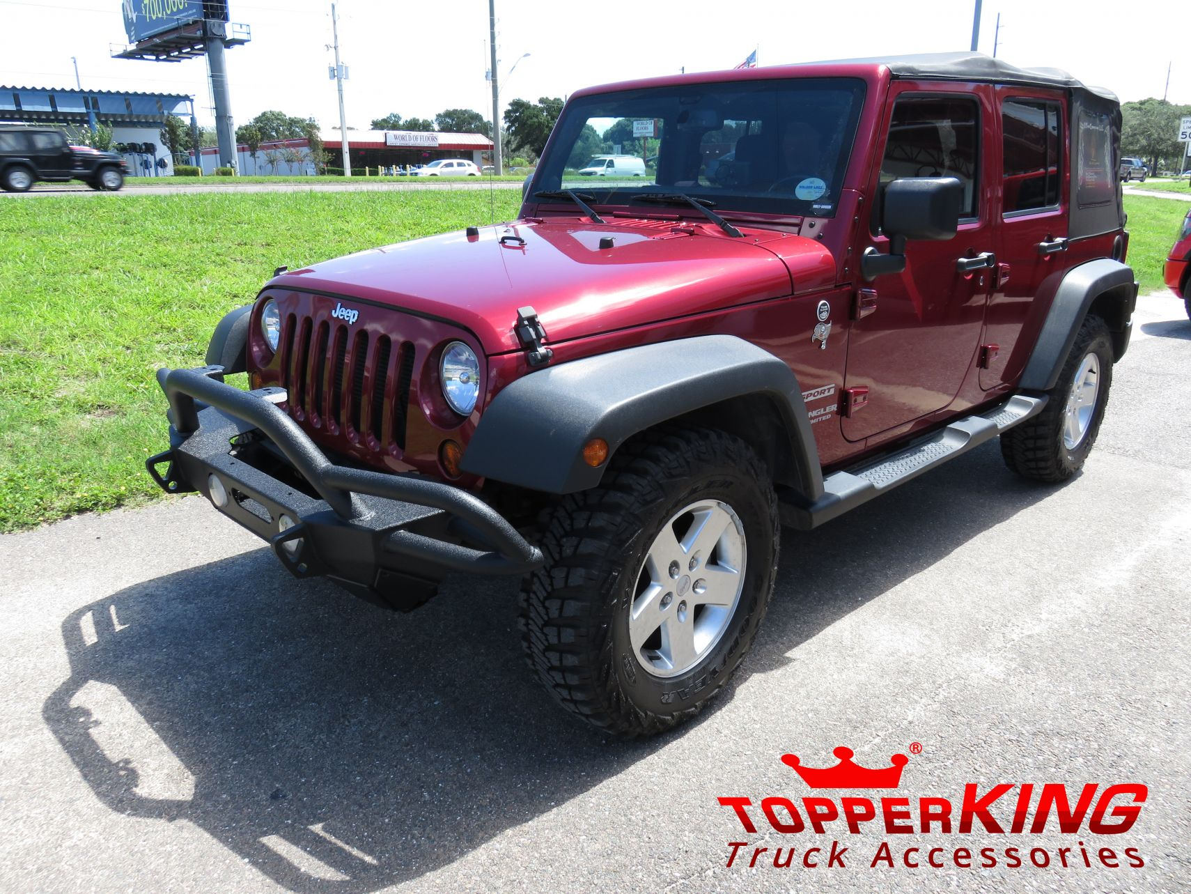 2015 Jeep Wrangler Smittybilt Bumper, Fender Flares, And Custom Hitch By  TopperKING In Brandon ...