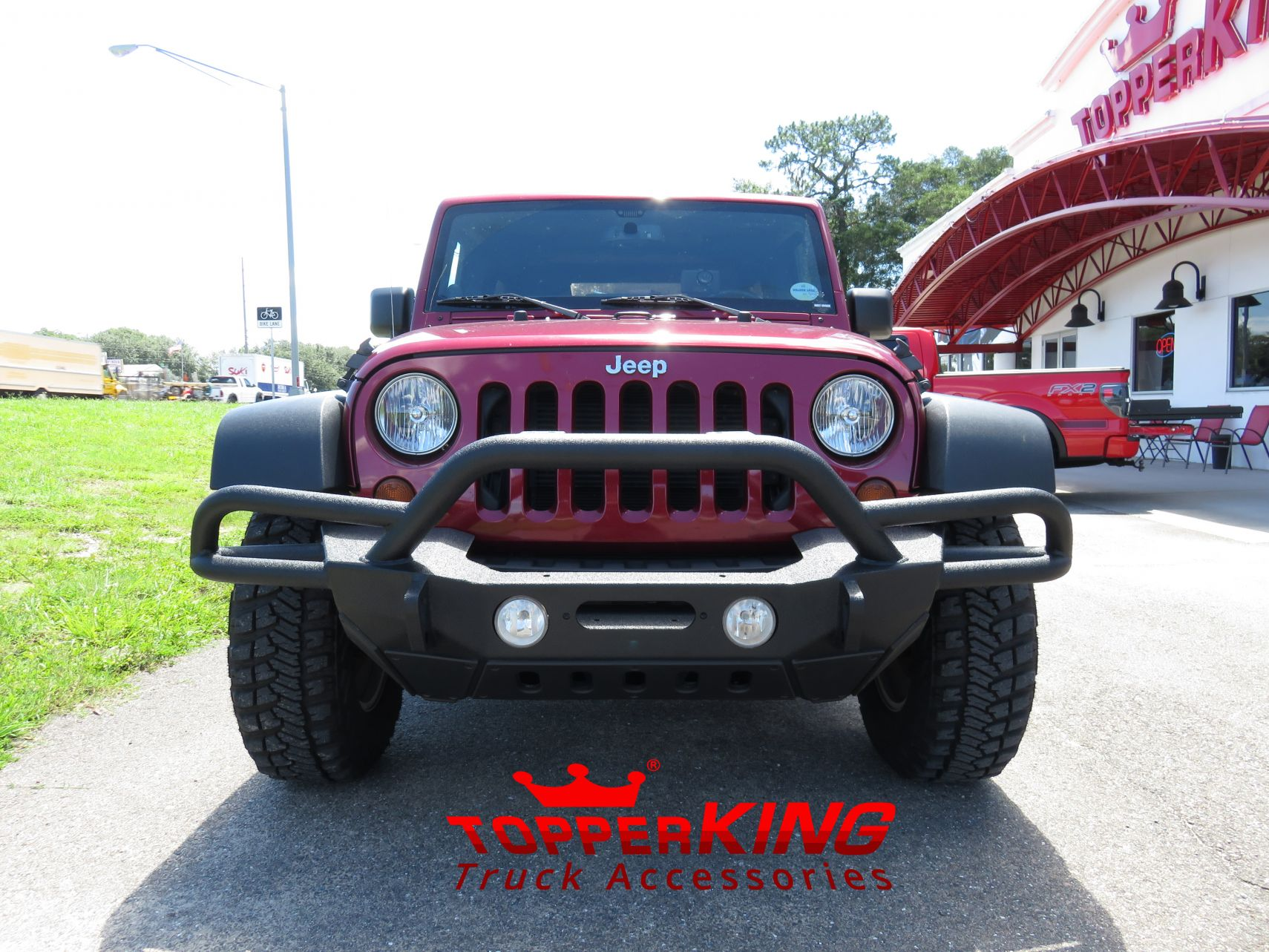 2015 Jeep Wrangler Smittybilt Bumper, Fender Flares, And Custom Hitch By  TopperKING In Brandon