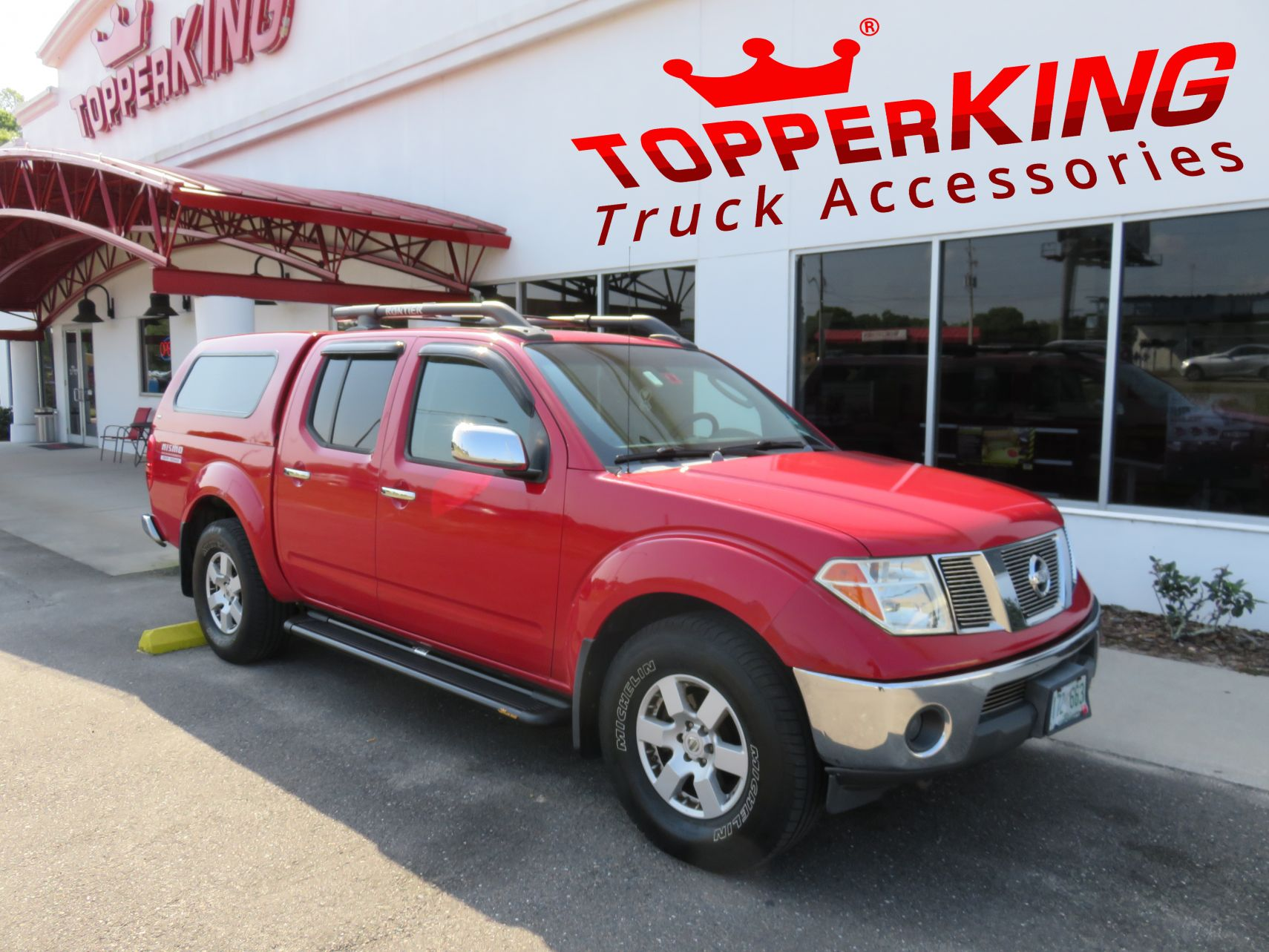 2014 Red Nissan Frontier Ranch Echo Topperking