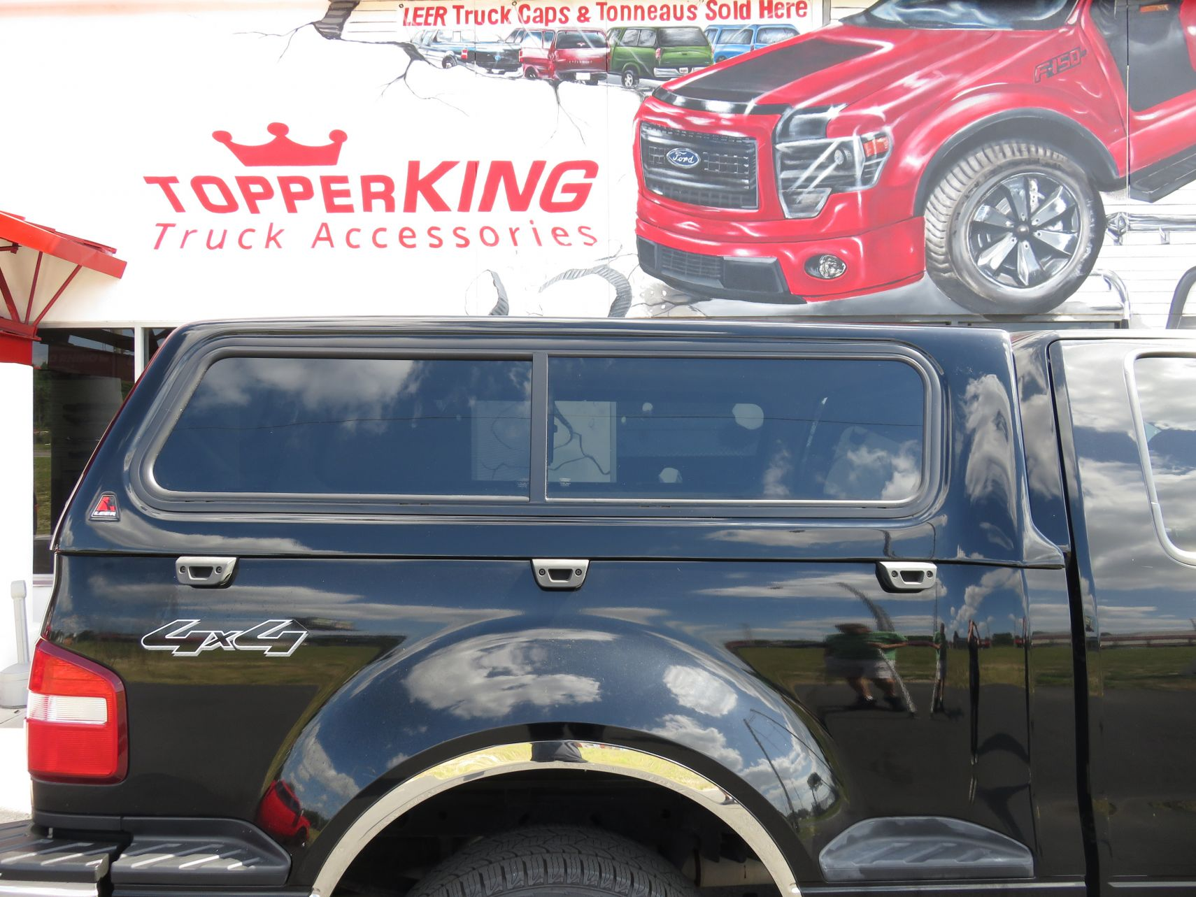 2008 Ford F150 Flareside With LEER 100R And Nerf Bars By TopperKING In Brandon