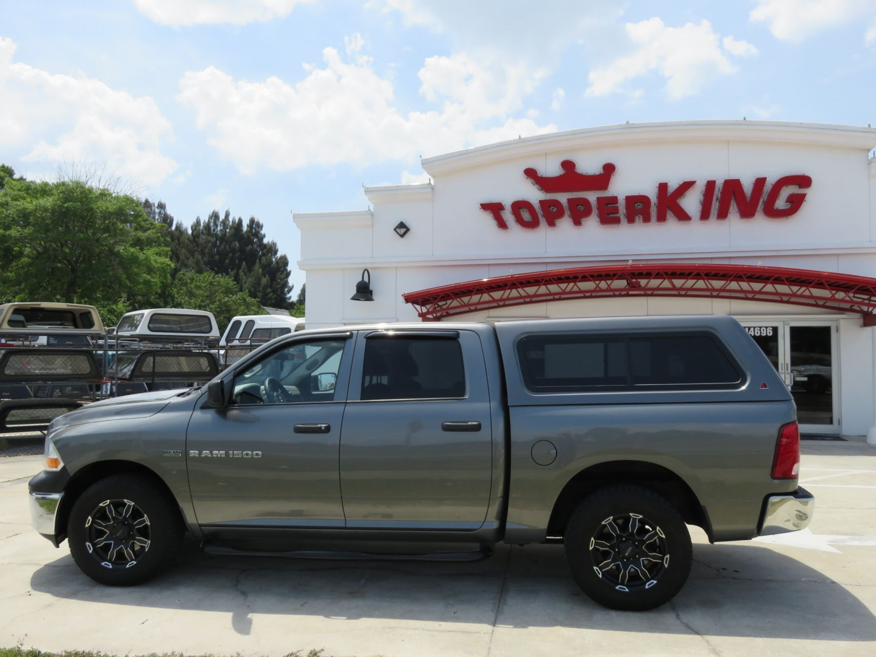 2017 Dodge Ram 1500 LEER 100XR, Tint, Nerf Bars, Vent Visors by TopperKING in Brandon, FL 813-689-2449 or Clearwater, FL 727-530-9066. Call today to start!