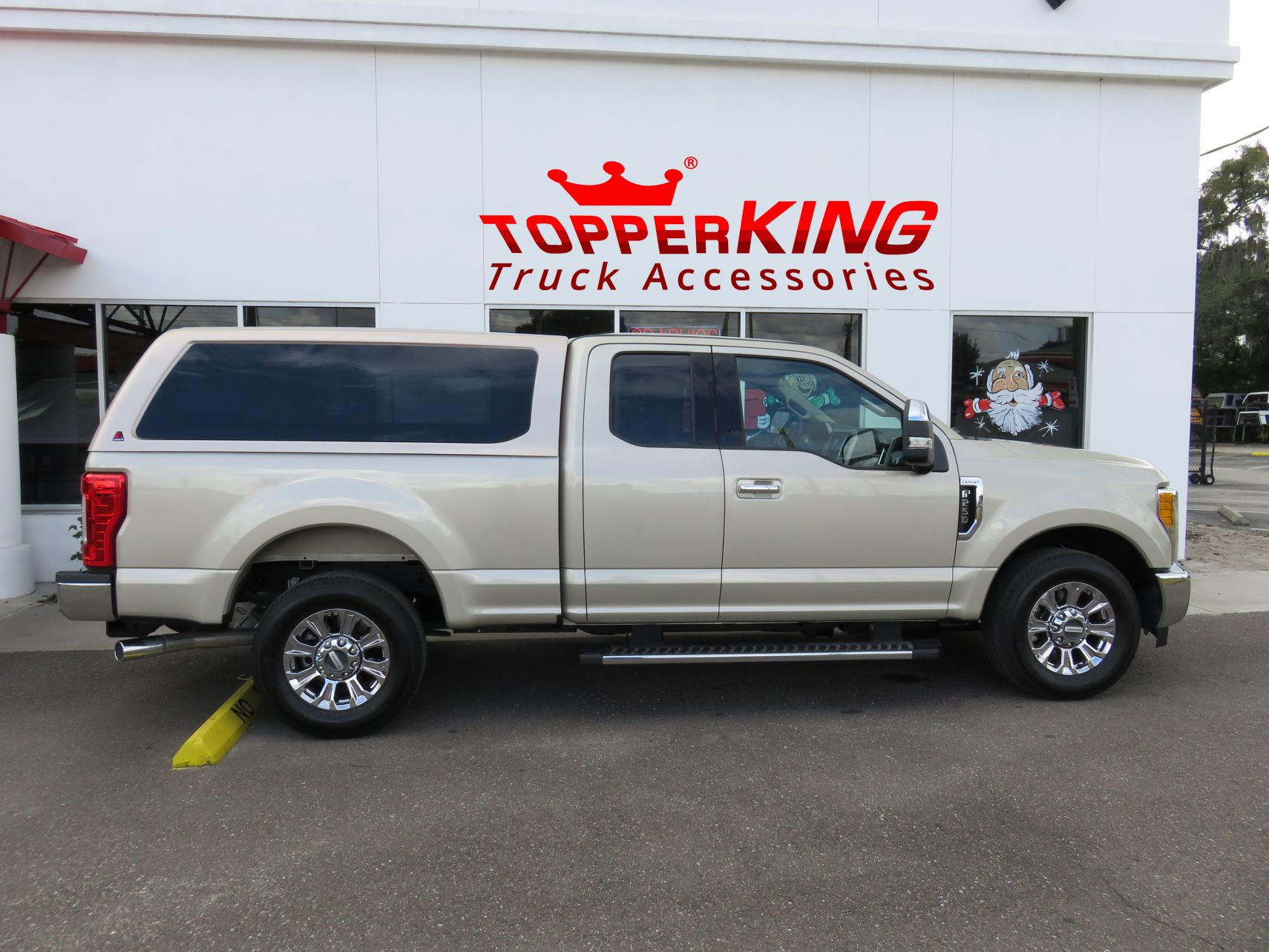 2017 Ford F250 with LEER 100XQFiberglass Topper, Side Steps, Hitch, Tint by TopperKING in Brandon FL 813-689-2449 or Clearwater FL 727-530-9066. Call Now!