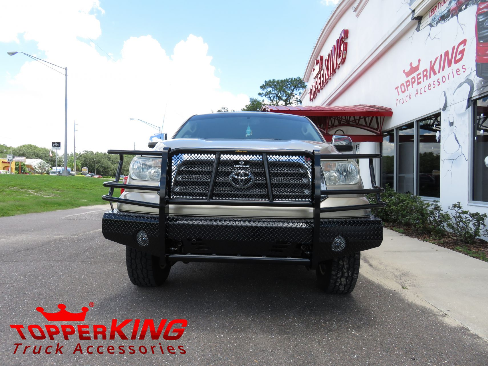 2010 toyota tundra ranchhand bumper topperking topperking providing all of tampa bay with. Black Bedroom Furniture Sets. Home Design Ideas