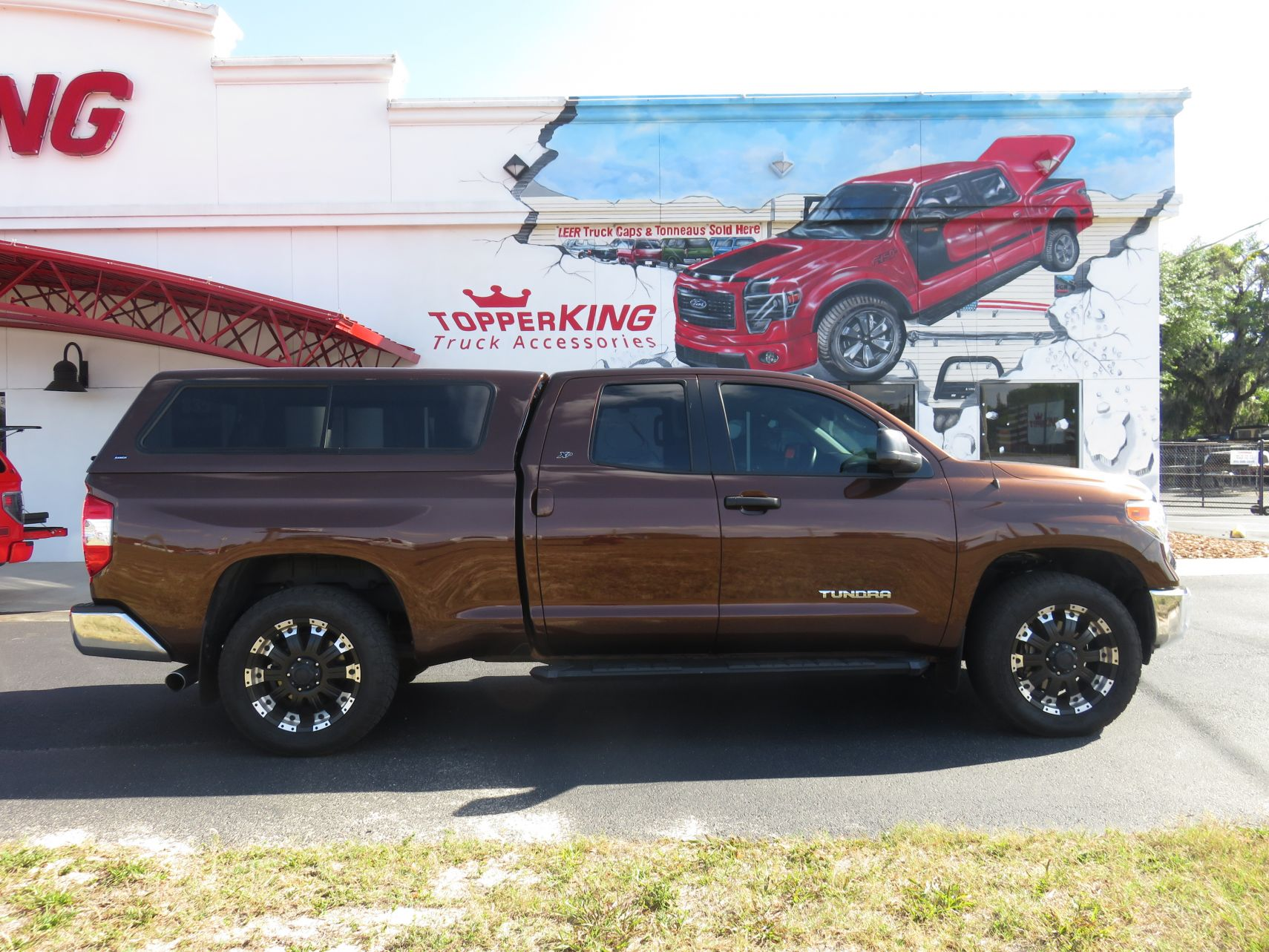2018 Toyota Tundra with Ranch Sierra, Hitch, Tint, Running boards by TopperKING Brandon 813-689-2449 or Clearwater FL 727-530-9066. Call Now!