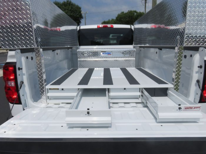 Chevy Silverado Side Steps >> Commercial Silverado Pack Rat and Tool Boxes - TopperKING ...