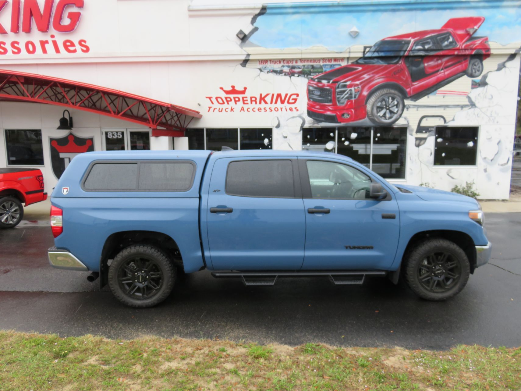 2020 Toyota Tundra with TK Defender, Side Steps, Tint, Hitch by TopperKING Brandon 813-689-2449 or Clearwater FL 727-530-9066. Call today!