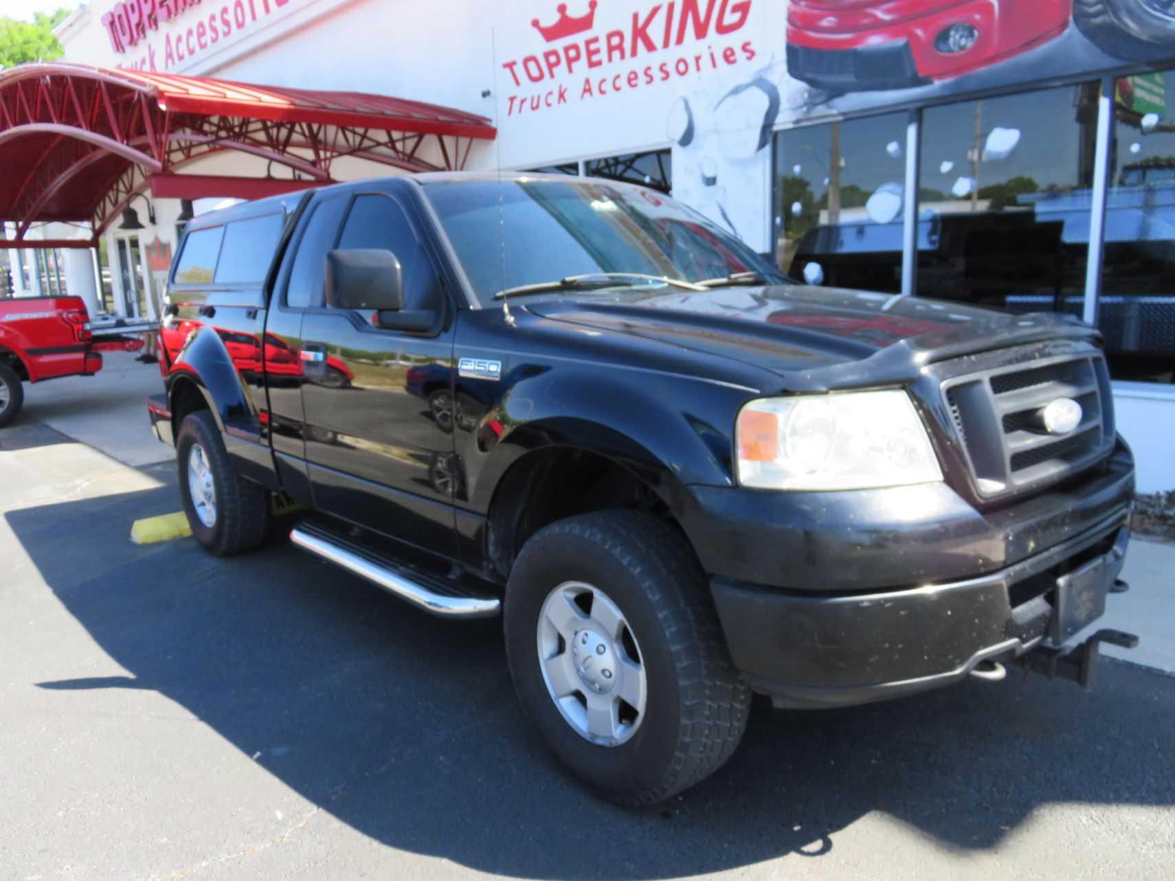 2005 Ford F150 Stepside with TK Defender, Bug Guard, Nerf Bars by TopperKING Brandon 813-689-2449 or Clearwater FL 727-530-9066. Call today!