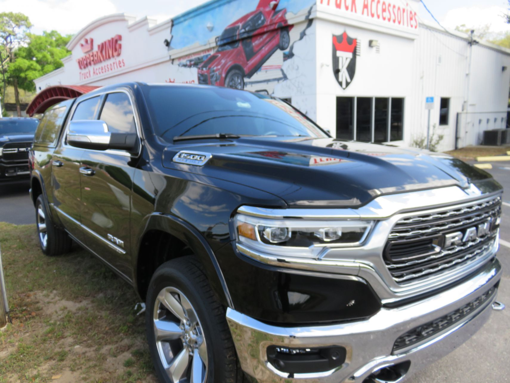 2020 Dodge RAM with LEER100XL, Tint, Hitch by TopperKING Brandon 813-689-2449 or Clearwater FL 727-530-9066. Come out and see us today!